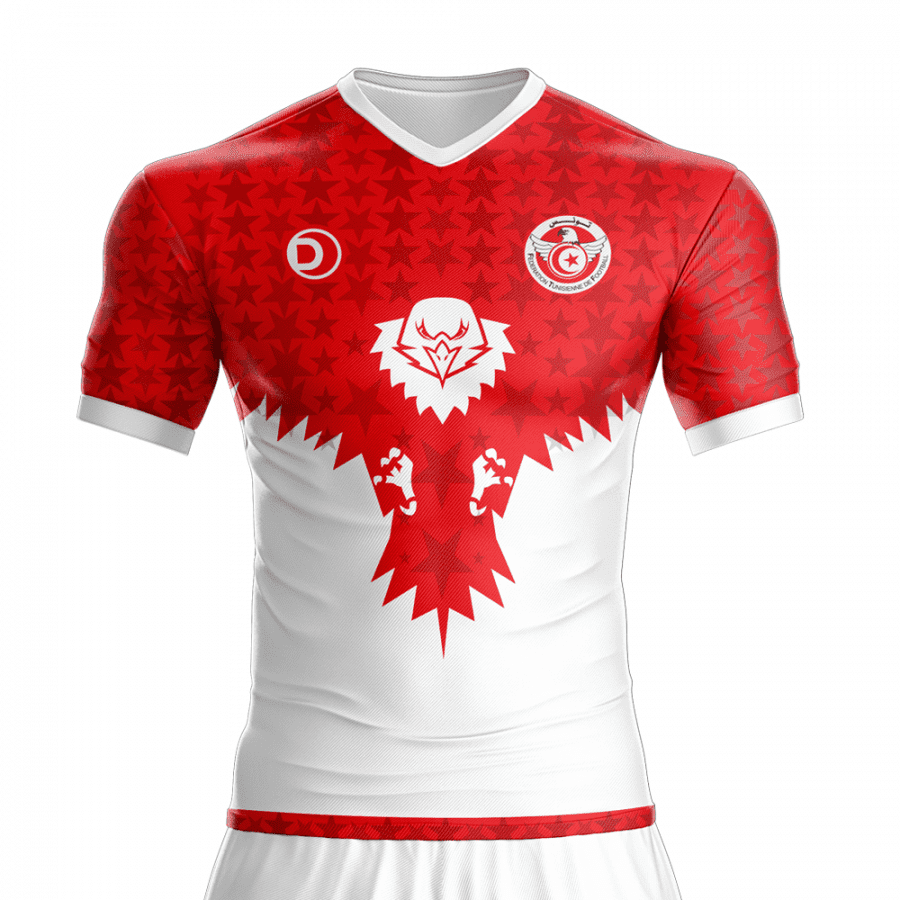 2016-2017 Tunisia (Tunisie) Football Jersey – Dahhan Sports